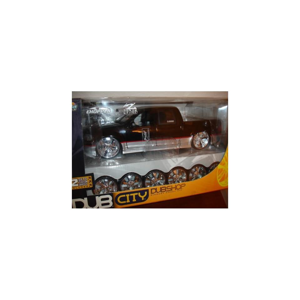 DUB CITY DUBSHOP Ford F 150 1/18 Scale Wheels by Chopper SP 6 and ZINIK Z 3 Bellflower