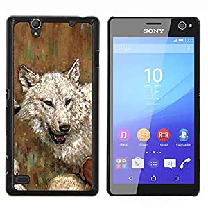Jordan Colourful Shop - Wolf Drawing Art Painting White Gray Oil Watercolor For Sony Xperia C4 Personalizado negro cubierta de la caja de pl????stico
