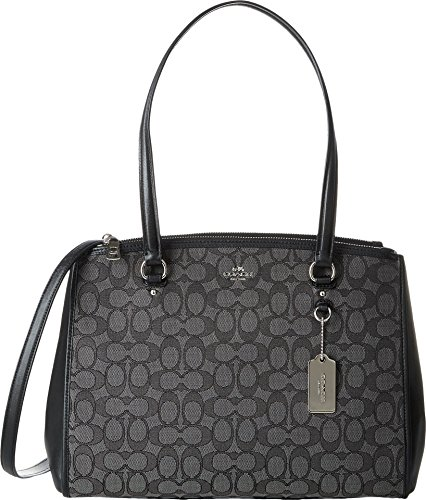 COACH Women's Signature Stanton Carryall Sv/Black Smoke/Black One Size
