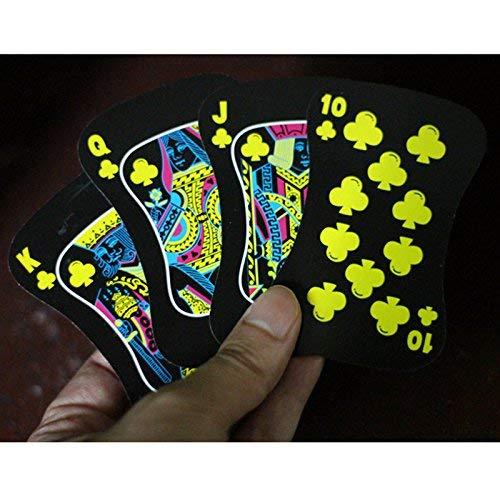 (Gentlecarin 54pcs Waterproof Plastic Poker Magic Playing Card Sets for Travel Swimming)