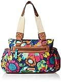 (US) Lily Bloom Triple Section Landon Multi-Purpose Satchel Bag (FLORAL FIESTA)