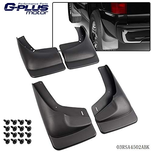 Heavy Duty Molded Mud Flaps Fit for 1999-2007 Chevy Silverado GMC Sierra (fits Vehicles with OEM Flares ONLY) Front and Rear Splash Guards Mudguard Kit 4 Piece Set