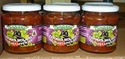 Contorno Sicilian Caponata Eggplant Appetizer, Imported From Sicily (3 Pack)