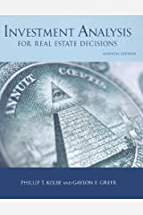 Investment Analysis for Real Estate Decisions, 7th Edition Hardcover