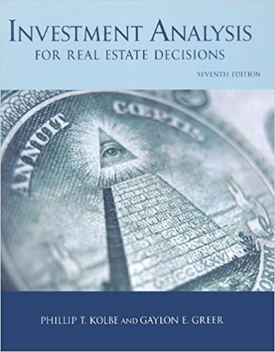 AmazonCom Investment Analysis For Real Estate Decisions Th