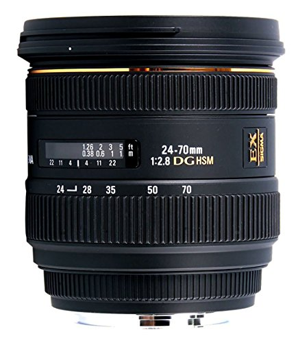Sigma 24-70mm f/2.8 IF EX DG HSM AF Standard Zoom Lens for Canon Digital SLR Cameras – International Version (No Warranty)
