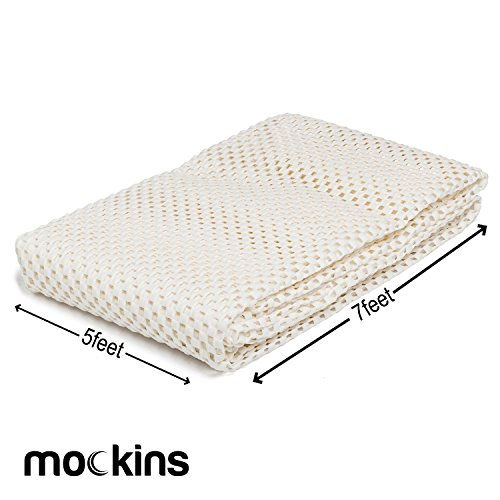 mockins Premium Grip and Non Slip Rug Pad 5 x 7 feet Area Rug Pad | Keeps Your Rugs in Place and Safe On Any Hard Floor…