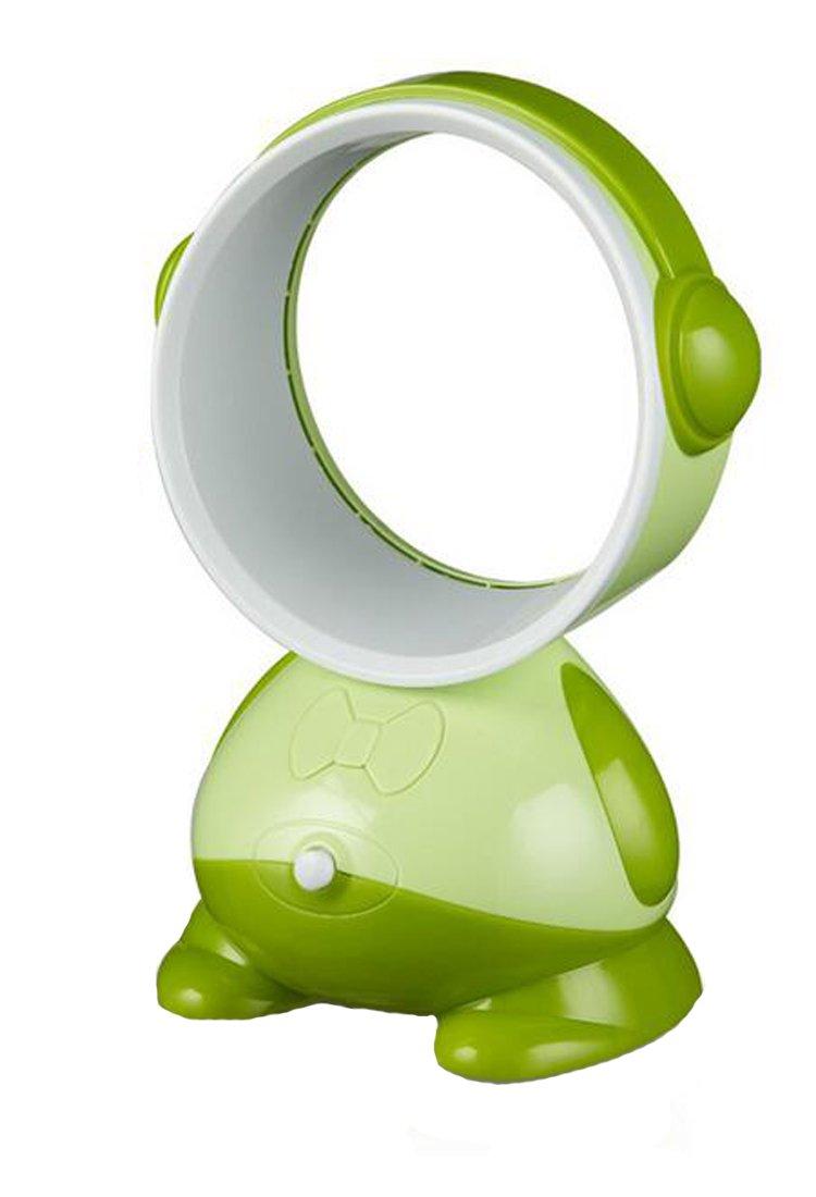Sweatwater Portable Mini USB Office Fan Leafless School Desk Quiet Personal Fan Green One-Size