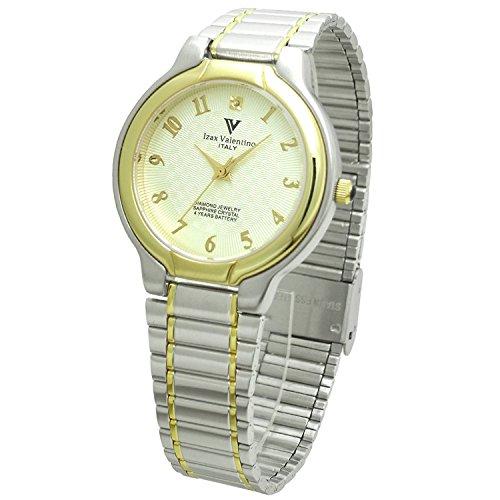 Izax Valentino watch round type 1P natural diamond metal watch Arabic numerals index white IVG-650-6 Men's