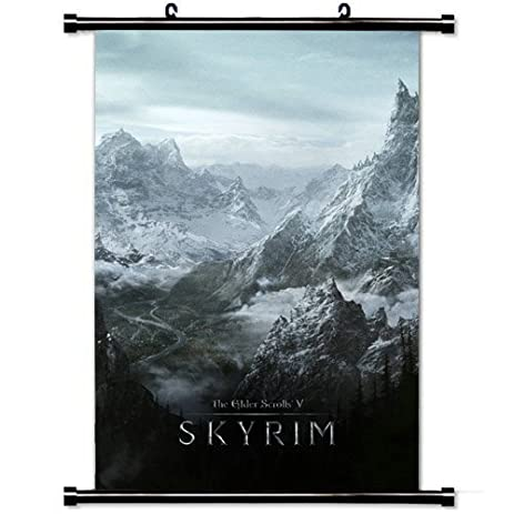 Amazon.com: Gaming Wall Posters, Skyrim World Rocks Winter Cold ...