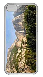 Customized iphone 5C PC Transparent Case - Tall Waterfall 2 Personalized Cover