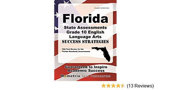 Amazon Florida State Assessments Grade 10 English Language Arts