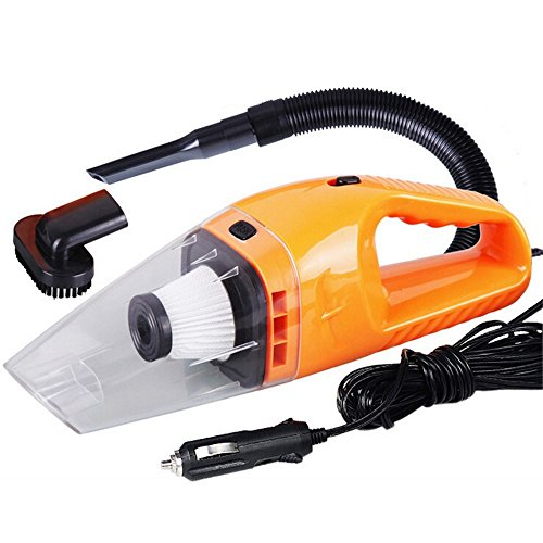 Car Vacuum Cleaner, Warmhoming 120W Handheld Vacuum with 5m Cable 12V, Portable Automotive Wet Dry Dust Buster Pet Hair Remover Crumbs Cleaner