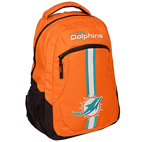 Miami Colors Dolphins (FOCO NFL Miami Dolphins Action Backpack, Team Color, One Size)