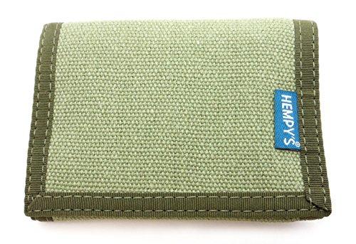 Hempy's Hemp Tri-fold Wallet – Green – One (Hemp Tri Fold Wallet)