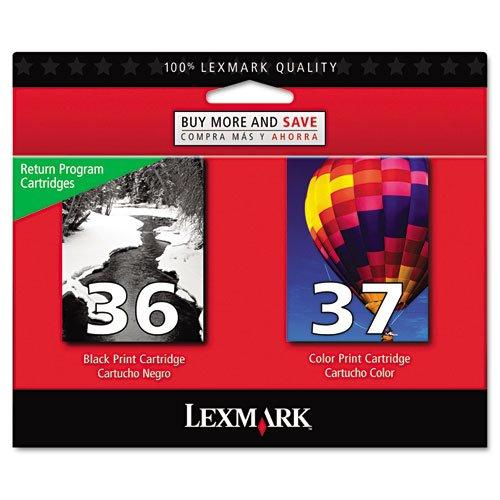 Lexmark - Inkcart,36/37,Rtn,2Pk,Bk