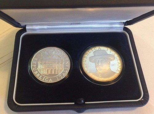 IT 2004 Italy 2004 Silver Proof Set 5, 10 Euro Giacomo Pu Good