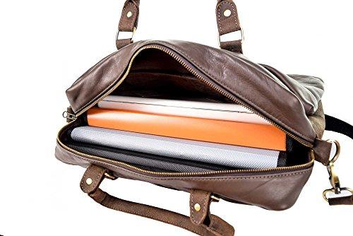 Kunterbuntbyhands Laptoptasche Ledertasche Aktentasche Messengertasche Umhängetasche Henkeltasche Unisex