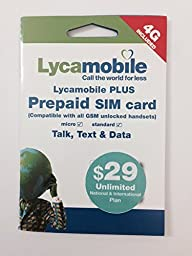 Lycamobile Preloaded SIM Card with the First Month of the $29 Monthly Plan Included