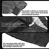 ILM Motorcycle Rain Suit Waterproof Wear Resistant
