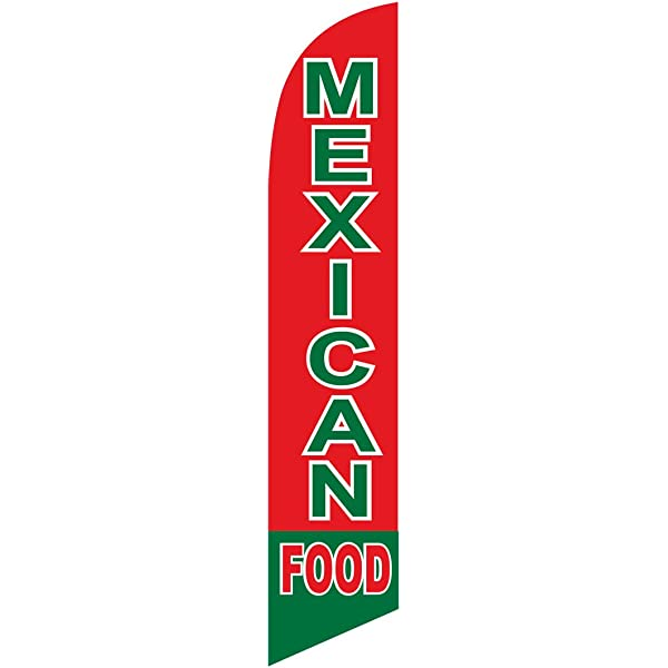 Amazon Com Mexican Food Feather Banner Swooper Flag Replacement Flag Only Garden Outdoor