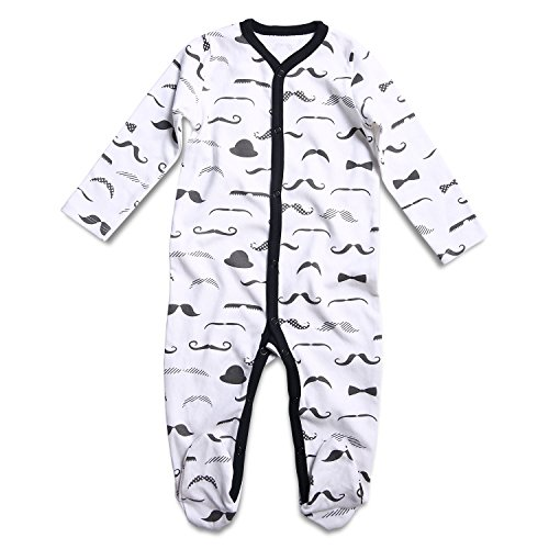 f5a86b7ed OPAWO Baby Boy Girl Footed Pajama Long Sleeve Sleeper Snap Romper ...