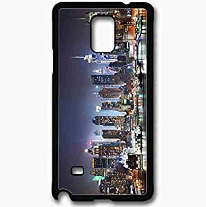Unique Design Fashion Protective Back Cover For Samsung Galaxy Note 4 Case New York Hudson River Refelctions Black