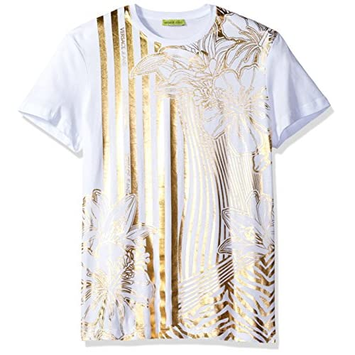 e8faa33798e314 80%OFF Versace Jeans Men s Gold Print T-Shirt - malo-selo.hr