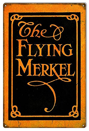 Garage Art Signs Distressed Flying Merkel Motorcycle Reproduction Sign 12x18. -
