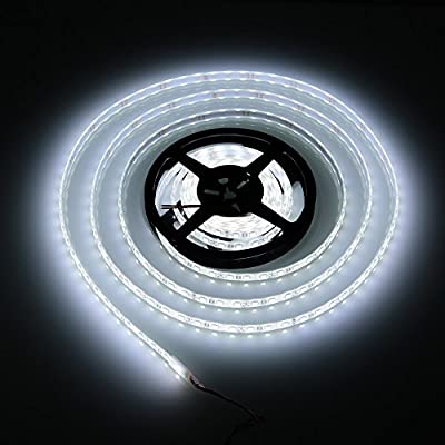 Lixada 5M/16.4ft SMD5050 300LEDs Outdoor Flexible Strip Light Underwater Waterproof IP68 DC 12V for Decoration Festival Celebration Fountain Pond Fishbowl Pool