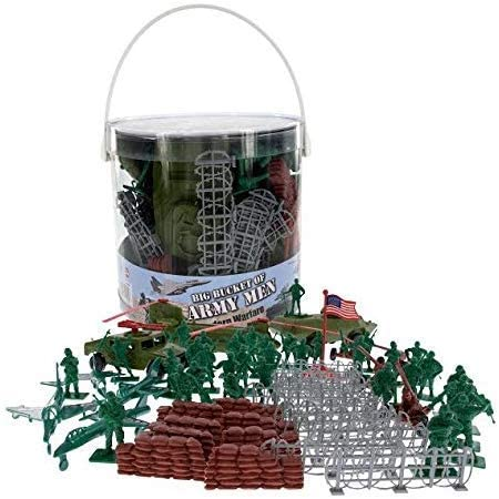 Bucket of Army Men Mini Figures /& Plastic Vehicles playlet 2 Items Hot Wheels Mission Attack Tank /& Army 2-Pack Bundled with HW Tanknator