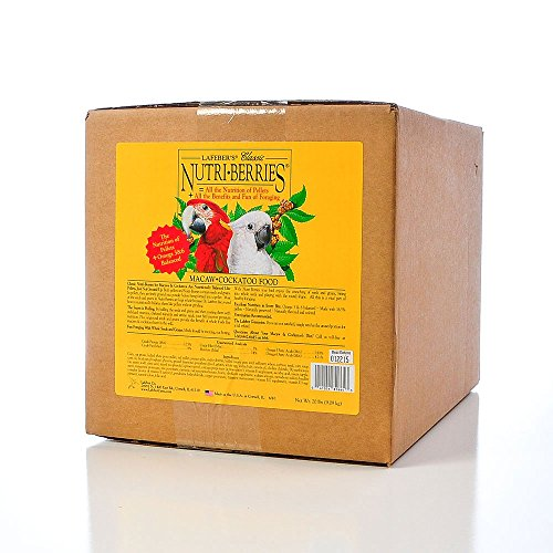 LAFEBER'S Classic Nutri-Berries Macaw and Cockatoo Food 20 lbs by LAFEBER'S