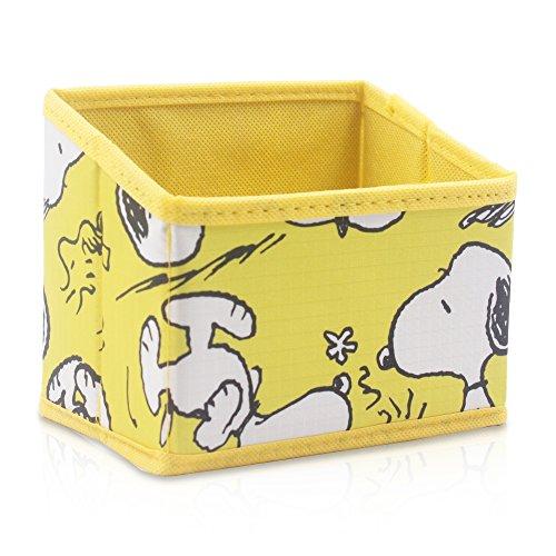 Finex Snoopy Foldable Pencil Pen Holder Storage Organizer Box for Desk - Yellow