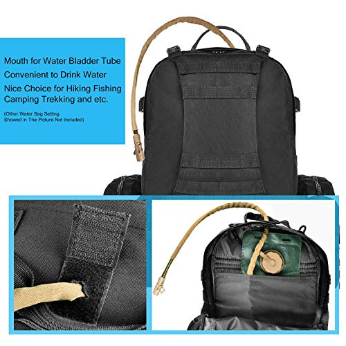CVLIFE Built-up Military Tactical Rucksack Army Survival Backpack Assault Black