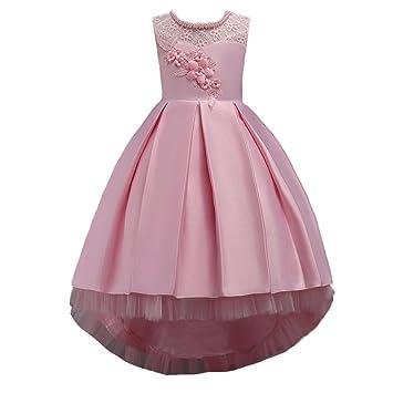eeb37454045 ❤️Kleider Kinder Sunday Kleinkind Kind Mädchen Hochzeits Blumen Kleid Spitze  Prinzessin Party Formal Dress Clothes (Alter  12J