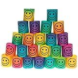Mini Smile Springs, Sicai 24 Pieces Colorful Mini Smile Face Springs Smile Springs Rainbow For Party Bags Filler