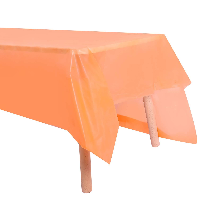 Colore: Bordeaux Banchetti Confezione da 3 tovaglie di plastica USA e Getta Feste SUNDEE 137 cm x 274 cm rettangolari Small per Matrimoni Orange
