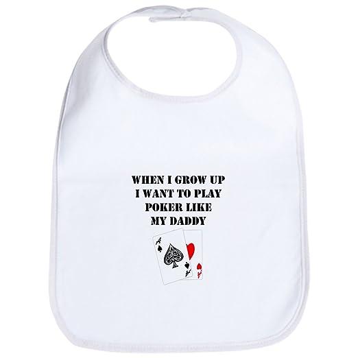 8d98eef8df2 Amazon.com  CafePress - Play Poker Like My Daddy Bib - Cute Cloth ...