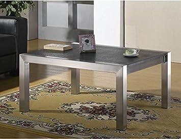 Couchtisch Wohnzimmertisch Edelstahl Mit Granitplatte Von Szagato LxB 80x60 Cm Granit