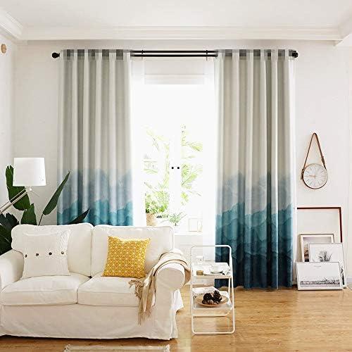 WPKIRA 中国の風景された贅沢なのカーテンリビングルームのエレガンスパターンカーテン家を飾る ルーム断熱カーテン リビングルームのカーテン 良好な絶縁 装飾的な部屋は洗うことができる、 ンカーテン 分解しやすい 2枚 幅190*丈200cm