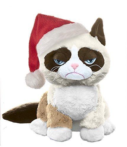 Ganz Grumpy Cat Sitting with Santa Hat ()