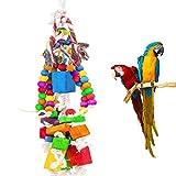 MEWTOGO Medium Bird Parrot Toys for Cockatoos African Grey Amazon Chew Toy