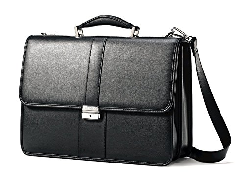 (Samsonite 43120-1041 15.6 FLAPOVER LEATHER BUSINESS CASE)