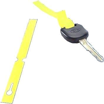 Eichner Schlüsselanhänger Mit Schlaufe Pvc 1000 Stk Gelb 9219 00109 405230100620 Auto