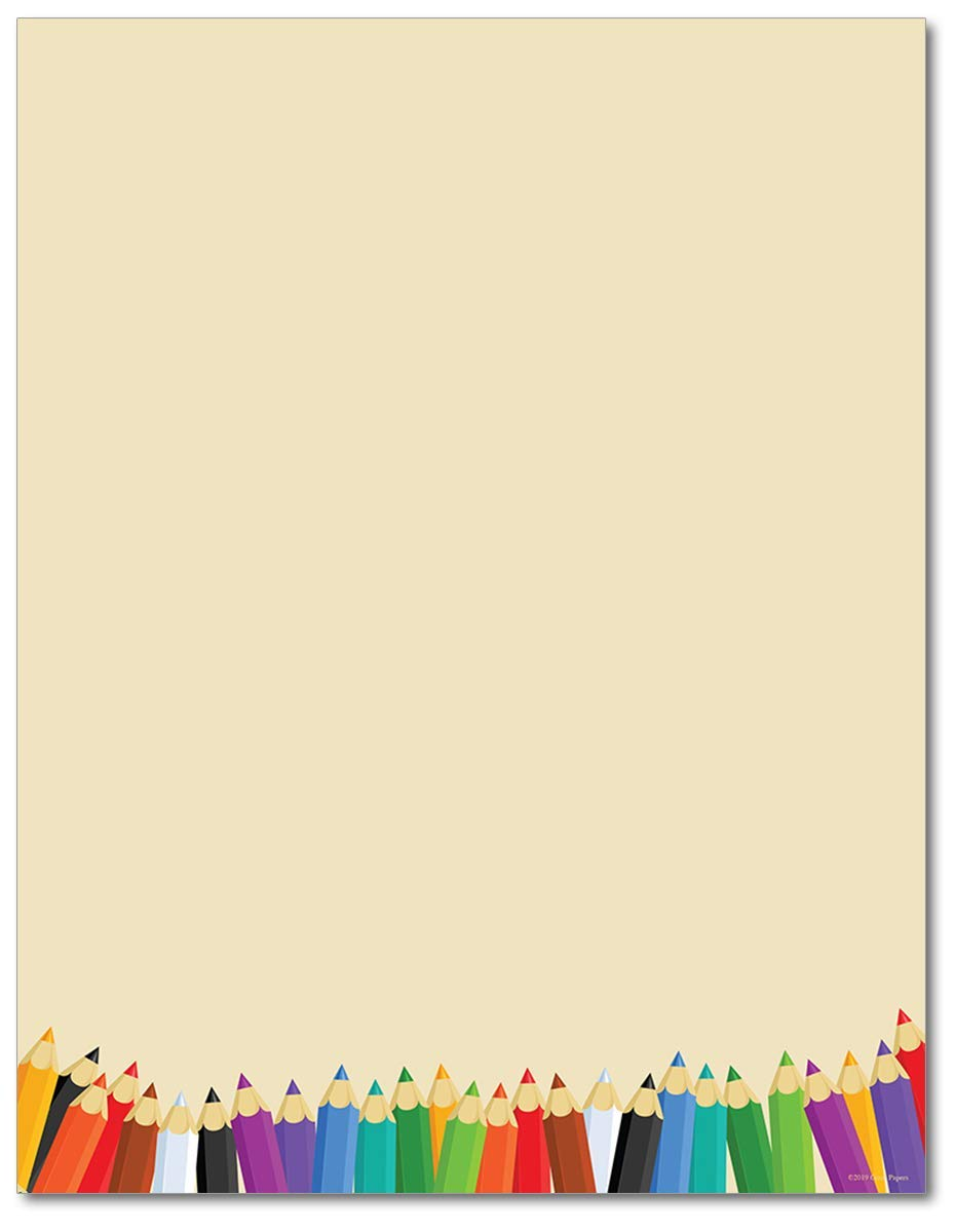 Back To School Stationery Paper - 80 Sheets - Great for First Day of School