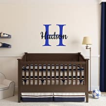 Custom Name Girls Boys Wall Decal Monogram   Personalized Name Wall Decal  Sticker Art   Name Part 90