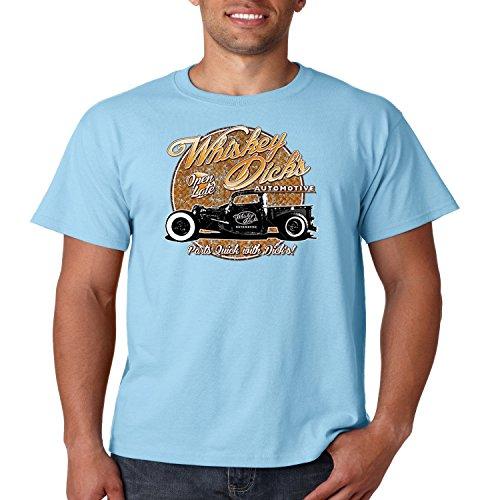 Classic Car T Shirt Whiskey Dicks Automotive S-5XL (Light Blue, XL)