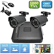 4CH CCTV DVR 1000TVL Digital Video IR Home Night Vision Security Camera System