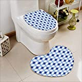 Cushion Non-Slip Toilet Mat White Conceptual Cultural Nature Design Arabian Flower Decorations Light Blue White Apricot High Absorbency