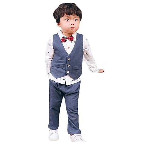 Tasty Life Traje De Tres Piezas Para Niño De Moda, Pantalones De ...